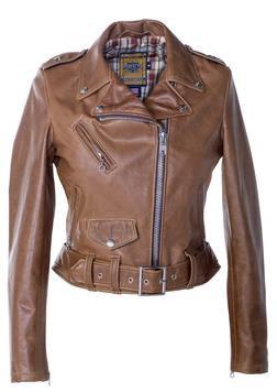 525W - Women's Leather Jacket (Rust Brown)