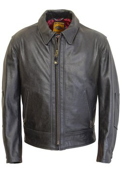 585 - Vintage Motorcycle Leather Jacket (Black)
