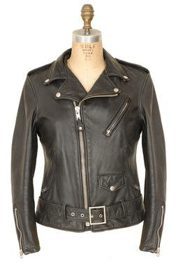626VNW - Women's Vintaged Cowhide Fitted Black Motorcycle Jacket (Black)