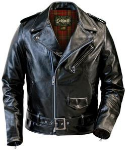 626 - Lightweight Cowhide Fitted Motorcycle Jacket (Black)