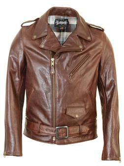 Cowhide Motorcycle Jacket - Brown