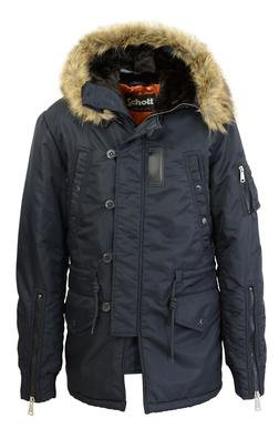 91326 - Nylon Flight Satin Fashion N-4B Parka (Navy)