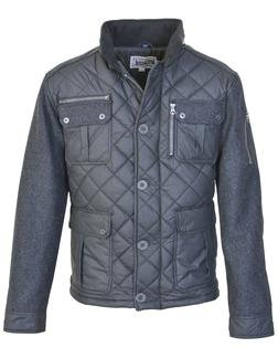 """91471 - 28"""" Diamond Quilted Coated Nylon Field Jacket (Charcoal)"""