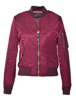 928JW - Women's Nylon Flight Jacket (Bordeaux)