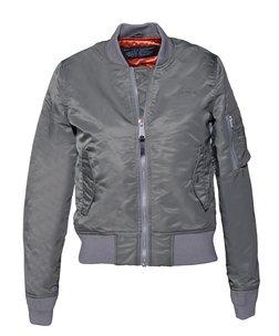 928JW - Women's Nylon Flight Jacket (Khaki)