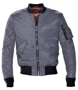 Grey MA-1 Flight Jacket