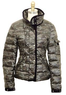 9391DW - Women's Down Filled Hip Length Ski Jacket (Camo)