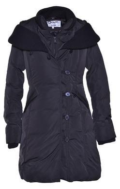 "9496W2 - 36"" Shawl Collar Nylon-Poly Asymmetrical Jacket (Navy)"