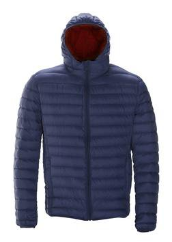Navy Nylon Down Jacket