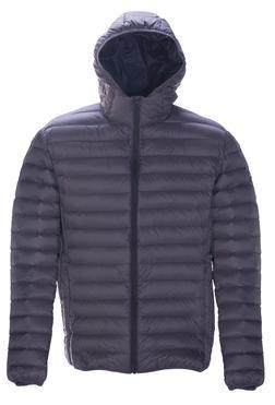 9515D - Nylon ultra light down filled  Silverado Jacket with hood (Slate)