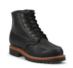 "6068 - Chippewa 1975 6"" Original Insulated Moc Toe Trekker (Black)"