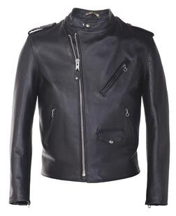 603US - Steerhide Hybrid Cafe Racer Asymmetrical Leather Motorcycle Jacket