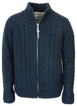 "F1410 - 27"" Cableknit Sweater Jacket (Black)"