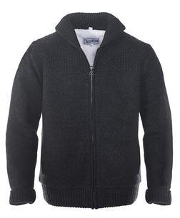 F1522 - Shawl Collar Sweater Jacket (Black)