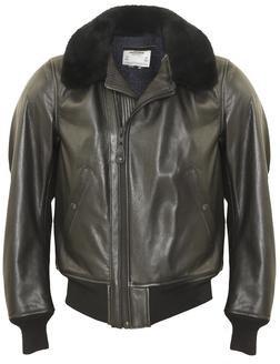P215 - B-15 Leather Flight Jacket (Black)