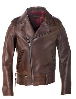 P6521 - Chips - California Highway Patrol Jacket in Horween Heavy Horsehide