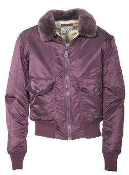P9475 - Burgundy Satin G-1 Bomber Jacket