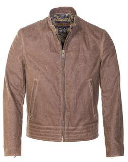 P9525 - Café Racer Waxed Canvas Motorcycle Jacket