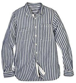 SH1324 - Vertical Dobby Stripe Fine Weave Cotton Shirt (Blue)
