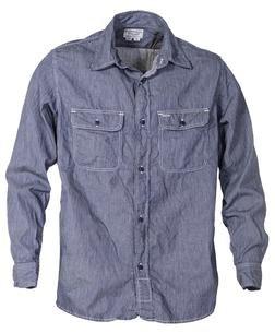 SH1501 - 100% Cotton Work Shirt (Ticking Cloth)