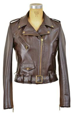 SPERW - Women's Lambskin Perfecto Leather Jacket in Colors (Brown)