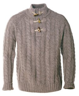 "SW1420 - 26"" Toggle Pullover Sweater (Olive) (Oatmeal)"