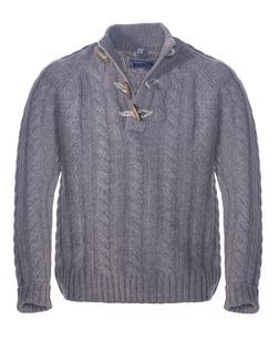 """SW1420 - 26"""" Toggle Pullover Sweater (Olive) (Oatmeal)"""