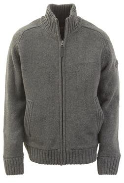 "F1250 - 27"" Wool/Acrylic blend zip front sweater (Charcoal)"