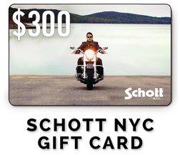 GC300 - $300 Schott NYC Gift Card