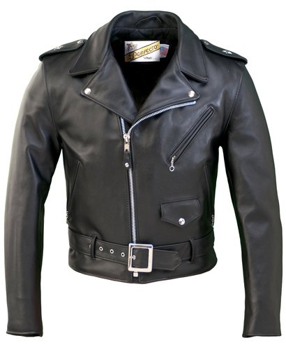 613 - One Star Perfecto Leather Motorcycle Jacket (Black)