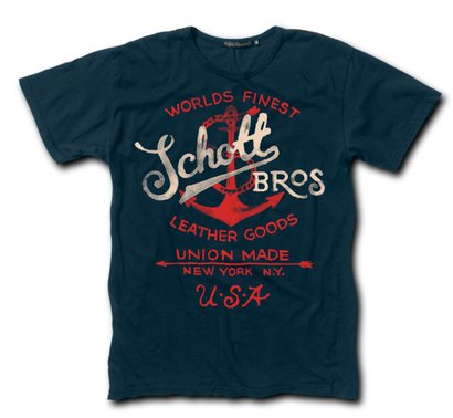 TANCH2 - Two Color Anchor Tee (Navy)